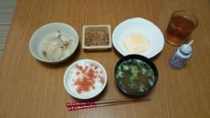 朝食の写真(ごはん食)