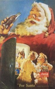 コカ・コーラの印刷広告シリーズのサンタクロース