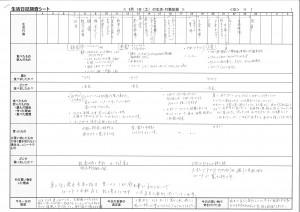 「生活カレンダー」調査のフォーマット