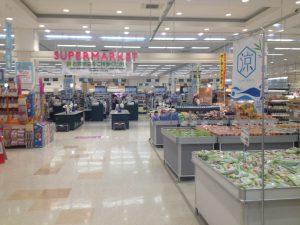 スーパーマーケット店内