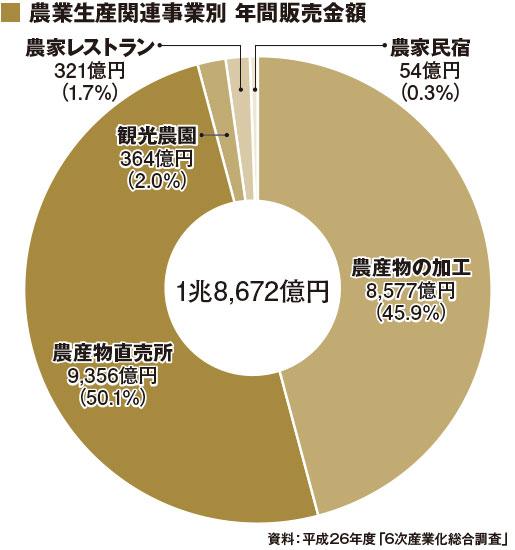 農業生産関連事業別 年間販売金額