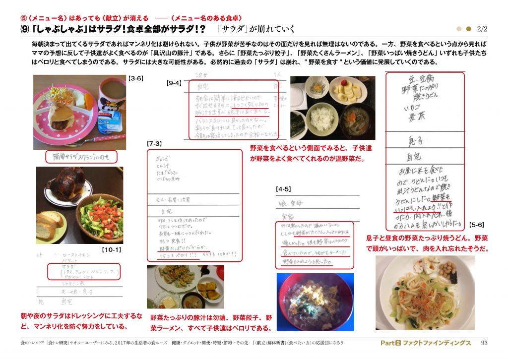 食のトレンドレポート「2017年の生活者の食ニーズ」内容4